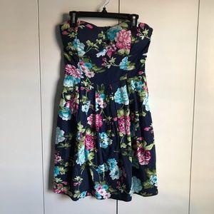 Rue 21 Floral Strapless Dress